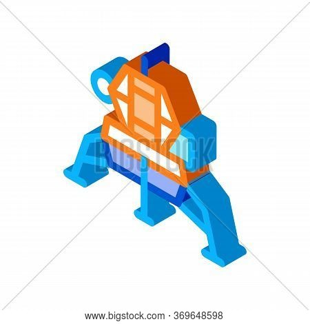 Manned Spacecraft Icon Vector. Isometric Manned Spacecraft Sign. Color Isolated Symbol Illustration