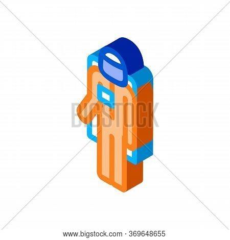 Astronaut Cosmic Suit Icon Vector. Isometric Astronaut Cosmic Suit Sign. Color Isolated Symbol Illus