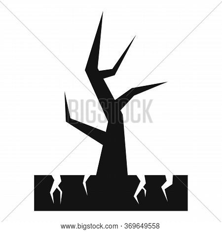 Catastrophe Drought Tree Icon. Simple Illustration Of Catastrophe Drought Tree Vector Icon For Web D