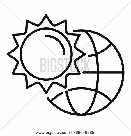 Warm Global Temperature Icon. Outline Warm Global Temperature Vector Icon For Web Design Isolated On