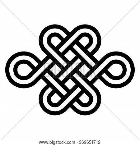 Sign Eternal Youth, Beauty And Health, Vector Node Of Longevity Without End And Beginning. Symbol Of