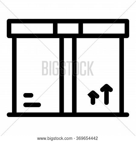 Order Parcel Icon. Outline Order Parcel Vector Icon For Web Design Isolated On White Background