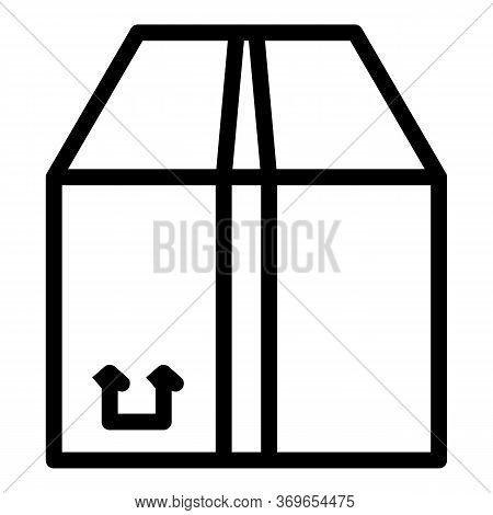Cargo Parcel Icon. Outline Cargo Parcel Vector Icon For Web Design Isolated On White Background