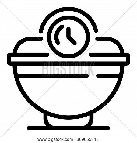 Fast Cereal Flakes Icon. Outline Fast Cereal Flakes Vector Icon For Web Design Isolated On White Bac