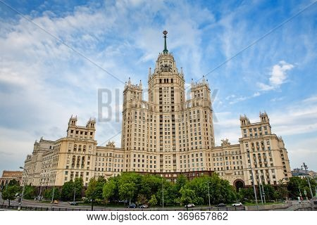 Russia, Moscow, May 30, 2020. Empty City Roads. Quarantine In Moscow.high-rise Building In Moscow. S
