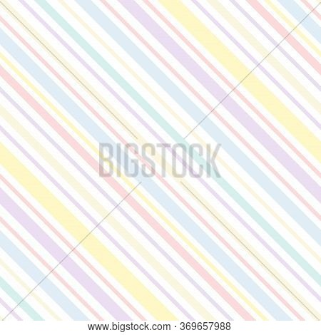 Stripe Seamless Pattern Of Colorful Colored Lines Texture. Easter Eggs Pastel Colored Color Pattern