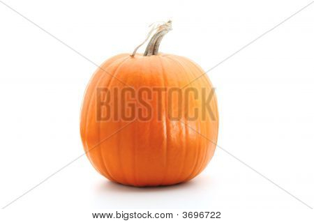 Orange Pumpkin Isolated On White