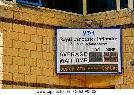 Lancaster Uk 30 May 2020 Waiting Time At Emergency Department Lancaster Hospital