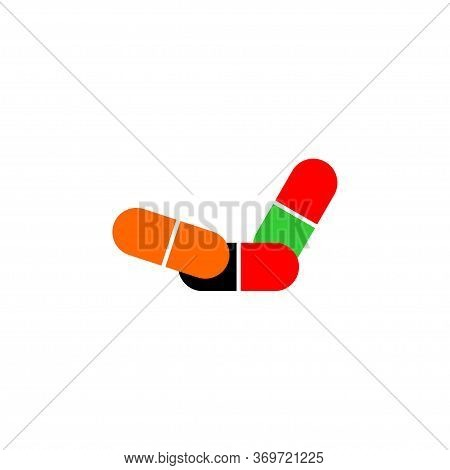 Pills Icon Isolated On White Background. Pills Icon Simple Sign. Pills Icon Trendy And Modern Symbol