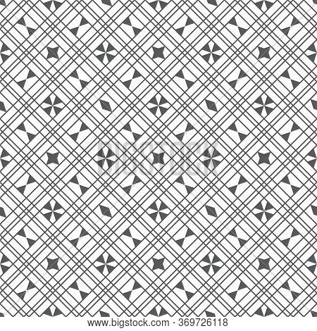 Vector Seamless Pattern. Modern Simple Geometrical Texture. Abstract Regularly Repeating Background