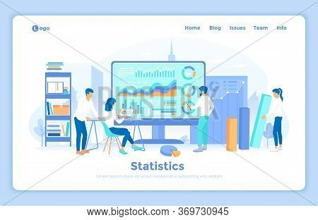 Statistics And Data Analysis, Collection Of Information. Analytics Team Monitoring And Analyzes Stat