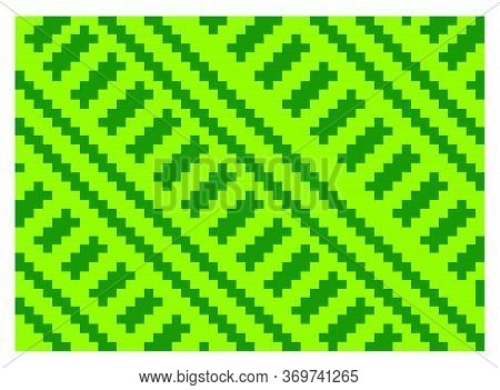Flat Colorful Beautiful Decorative Ethnic Woven (anyaman) Background Texture 21