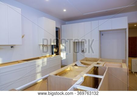 Home Improvement Installed In A New Kitchen Of Installation Base Cabinet