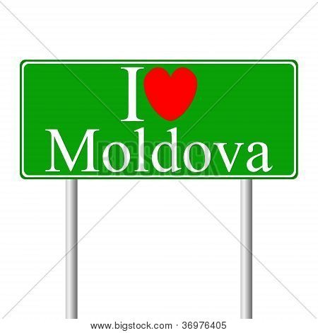 I Love Moldova , Concept Road Sign