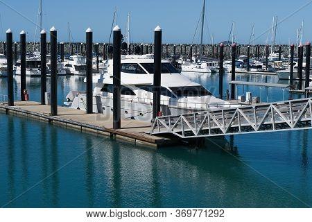 Luxury Yacht Moored At An Australian Marina