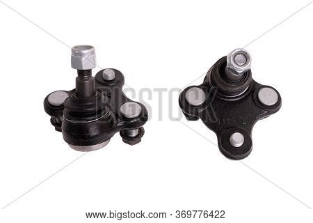 Car Wheel Ball Joint Isolated. New Spherical Car Parts Ball Joint
