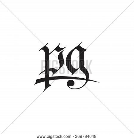 Pg Initial Letter Logo Template Design Simple