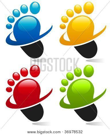 Swoosh Feet Icons