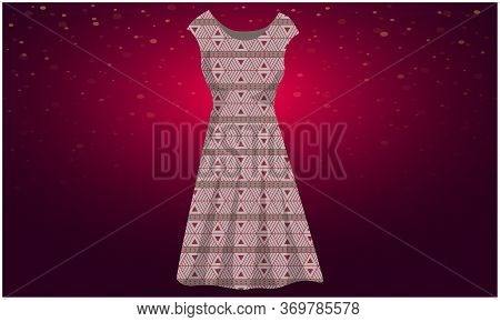 Mock Up Illustration Of Casual Dress On Abstract Background