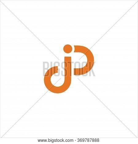 Creative Letter Jp Logo Template Simple Vector