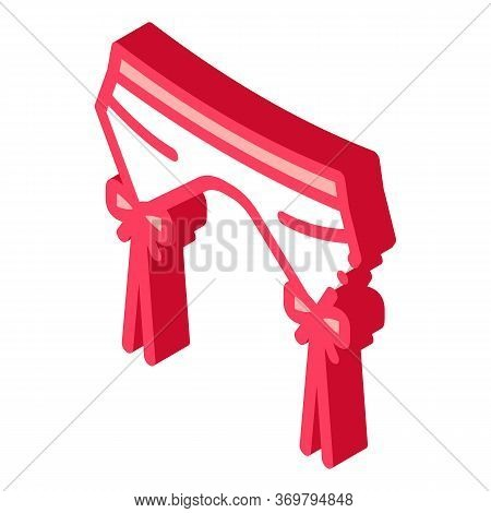 Suspender Belt Icon Vector. Isometric Suspender Belt Sign. Color Isolated Symbol Illustration