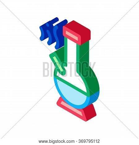 Smoking Bong Icon Vector. Isometric Smoking Bong Sign. Color Isolated Symbol Illustration
