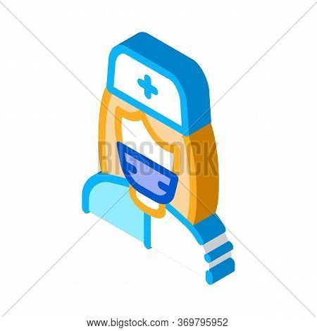 Nurse Paramedic Icon Vector. Isometric Nurse Paramedic Sign. Color Isolated Symbol Illustration