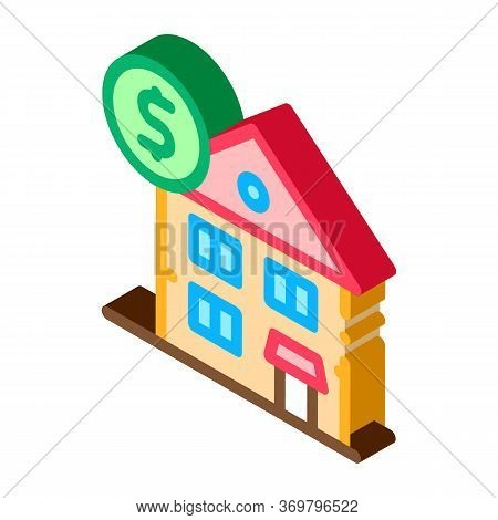 House Mortgage Icon Vector. Isometric House Mortgage Sign. Color Isolated Symbol Illustration
