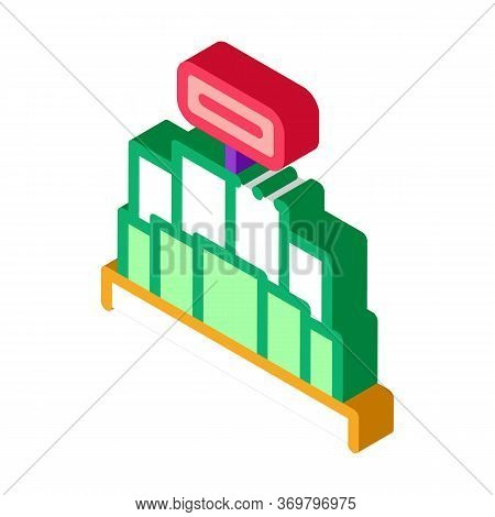 Promo Stand Icon Vector. Isometric Promo Stand Sign. Color Isolated Symbol Illustration