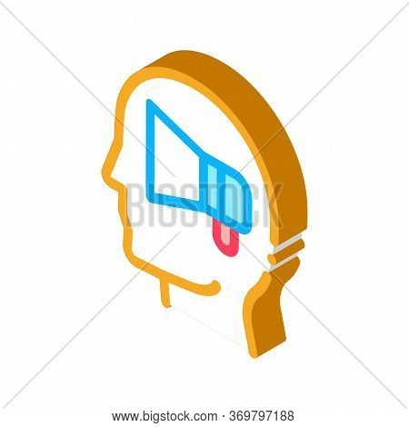 Loudspeaker Head Icon Vector. Isometric Loudspeaker Head Sign. Color Isolated Symbol Illustration