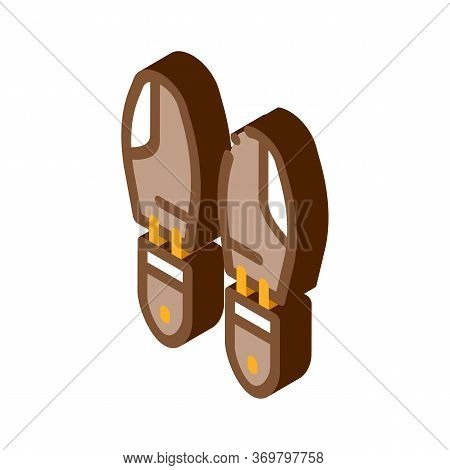Shoe Sole Detail Icon Vector. Isometric Shoe Sole Detail Sign. Color Isolated Symbol Illustration