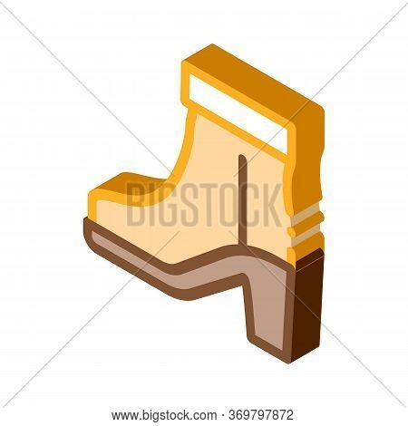 Boot Shoe Icon Vector. Isometric Boot Shoe Sign. Color Isolated Symbol Illustration