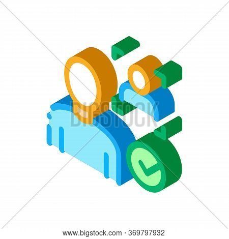 Approve Identity Icon Vector. Isometric Approve Identity Sign. Color Isolated Symbol Illustration