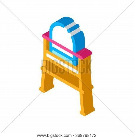 Chair For Feeding Icon Vector. Isometric Chair For Feeding Sign. Color Isolated Symbol Illustration