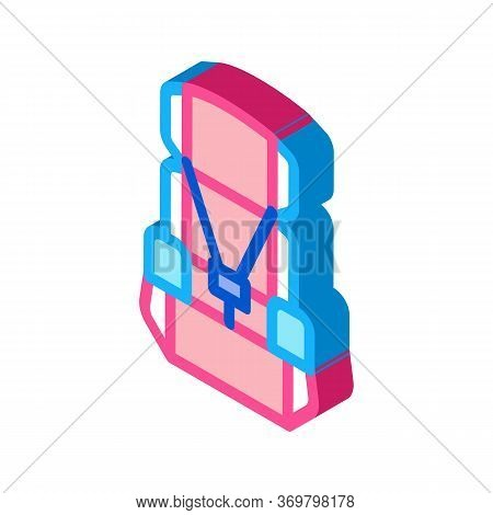 Child Seat Chair Icon Vector. Isometric Child Seat Chair Sign. Color Isolated Symbol Illustration