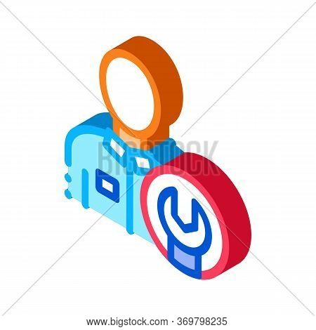 Mechanic Wrench Icon Vector. Isometric Mechanic Wrench Sign. Color Isolated Symbol Illustration