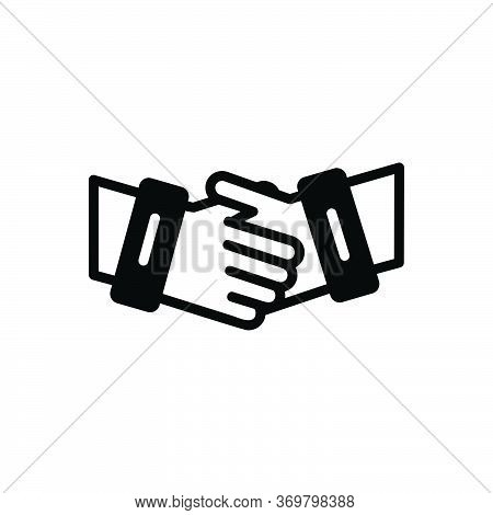 Black Solid Icon For Partnership Collaboration Complicity Copartnership Handshake Teamwork