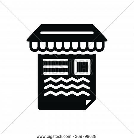 Black Solid Icon For Article-marketing Article Marketing Paragraph Publicity Sale Section