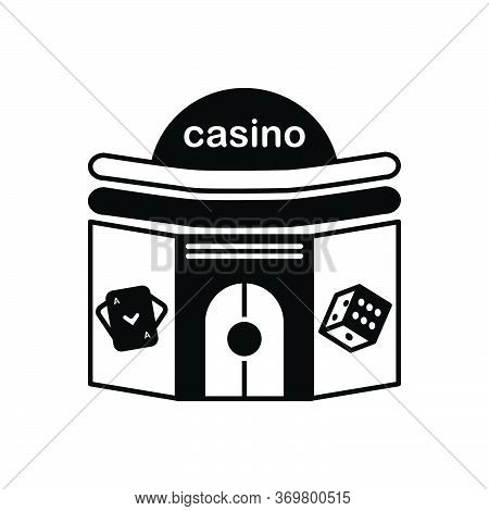 Black Solid Icon For Casino Poker  Gamble  Slots Gambling
