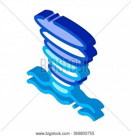 Tornado Sea Water Icon Vector. Isometric Tornado Sea Water Sign. Isolated Symbol Illustration