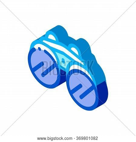 Binocular Tool Icon Vector. Isometric Binocular Tool Isometric Sign. Color Isolated Symbol Illustrat
