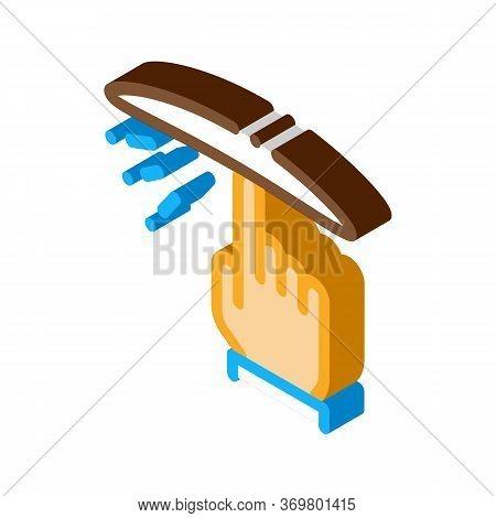 Twist Dough Hand Icon Vector. Isometric Twist Dough Hand Isometric Sign. Color Isolated Symbol Illus