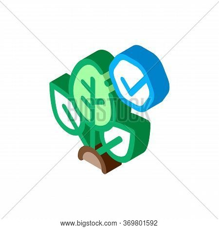 Plant Access Mark Icon Vector. Isometric Plant Access Mark Isometric Sign. Color Isolated Symbol Ill