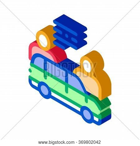 Car Dealer Buyer Icon Vector. Isometric Car Dealer Buyer Isometric Sign. Color Isolated Symbol Illus