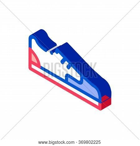 Sneaker Shoe Icon Vector. Isometric Sneaker Shoe Isometric Sign. Color Isolated Symbol Illustration