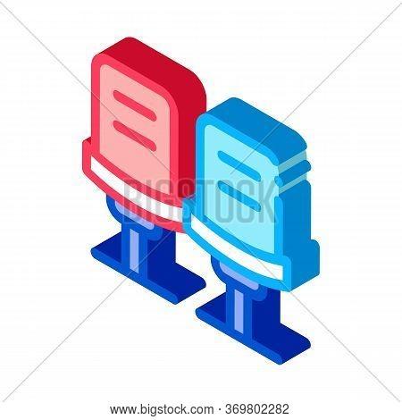 Bowling Ball Bag Icon Vector. Isometric Bowling Ball Bag Isometric Sign. Color Isolated Symbol Illus