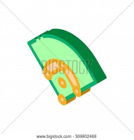 Baseball Field Icon Vector. Isometric Baseball Field Isometric Sign. Color Isolated Symbol Illustrat
