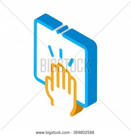 Hand Clapping Icon Vector. Isometric Hand Clapping Isometric Sign. Color Isolated Symbol Illustratio