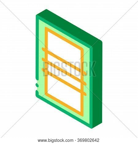 Volleyball Field Top View Icon Vector. Isometric Volleyball Field Top View Sign. Color Isolated Symb