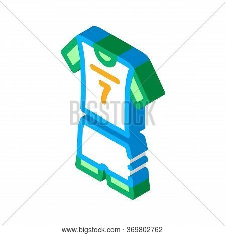 Volleyball Uniform Icon Vector. Isometric Volleyball Uniform Sign. Color Isolated Symbol Illustratio